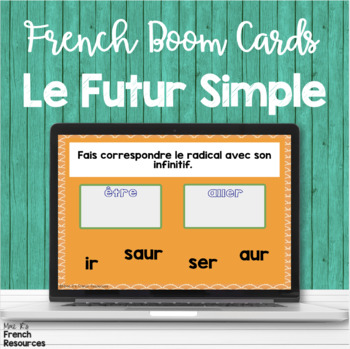 Futur simple task cards - French Boom cards