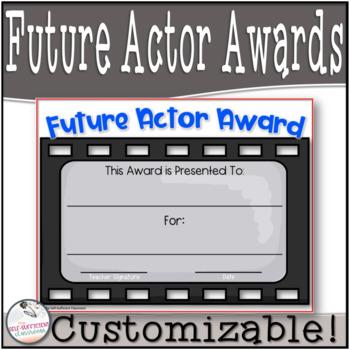 Future Actor / Actress Awards- Editable!