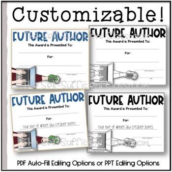 Future Author Awards (Superlatives)~ EDITABLE!
