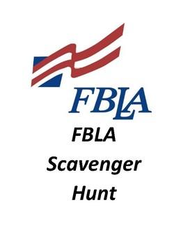 Future Business Leaders of America (FBLA) Internet Scavenger Hunt