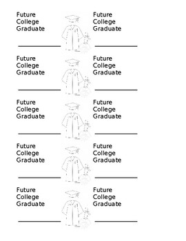 Future College Graduate Stickers