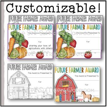 Future Farmer Award (Superlative) ~EDITABLE