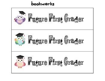 Future First Grader Bookmarks