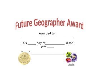 Future Geographer Award
