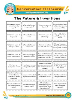 Future & Inventions - Conversation Flashcards