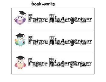 Future Kindergartner Bookmarks