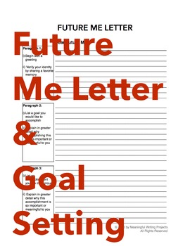 Future Me Letter and Goal Setting