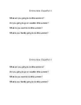 Future & Past Tense Interview Spanish I-II