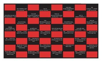 Future Perfect Continuous Tense Checker Board Game