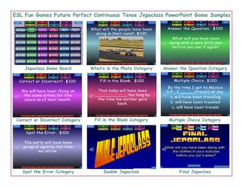 Future Perfect Continuous Tense Jeopardy PowerPoint Game
