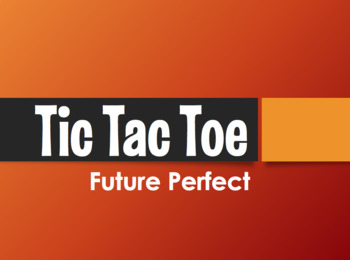 Spanish Future Perfect Tic Tac Toe Partner Game