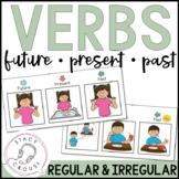 Future, Present, Past Verbs: Regular and Irregular (No Print Required)