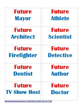 Future Professions / Careers Stickers