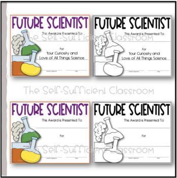 Future Scientist Awards (Superlatives)~Editable!