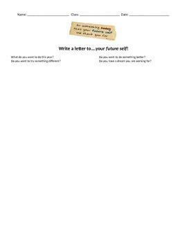Future Self Lesson -Worksheet