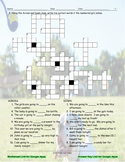 Future Simple Tense-Going To Interactive Crossword Puzzle for Google Apps