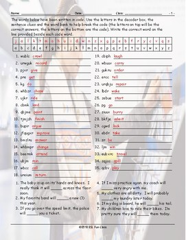 Future Simple Tense-Will Decoder Box Worksheet