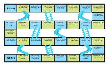 Future Simple Tense with Going To Chutes and Ladders Board Game