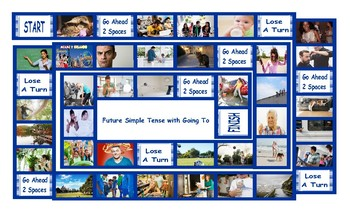 Future Simple Tense with Going To Legal Size Photo Board Game