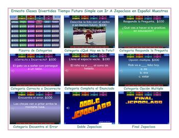 Future Simple Tense with Going To Spanish Jeopardy Game
