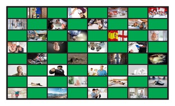 Future Simple Tense with Will Legal Size Photo Checkers Game