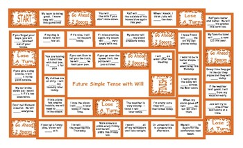 Future Simple With Will Board Game