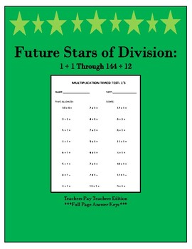 Future Stars of Division: Featuring Division Facts 1 ÷ 1 Through 144 ÷ 12