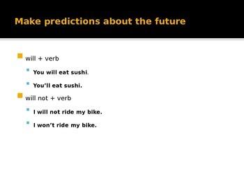 Future Tense Grammar PPT
