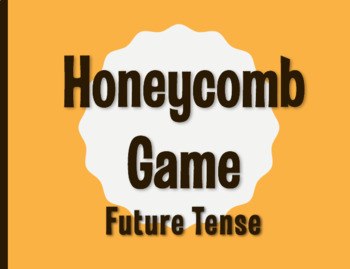 Spanish Future Tense Honeycomb Partner Game