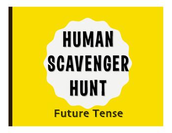 Spanish Future Tense Human Scavenger Hunt