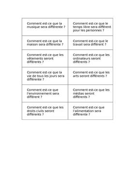 Future Tense Surveys FRENCH