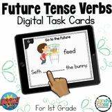 Future Tense Verb Activities: BOOM Cards™ Digital Grammar