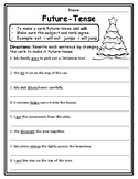 Future-Tense Verbs Christmas Grammar Christmas English Language Christmas ELA