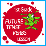 Future Tense Verbs Activities + Lesson, Poster, Future Tense Verbs Worksheet