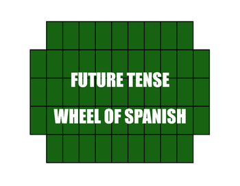 Spanish Future Tense Wheel of Spanish