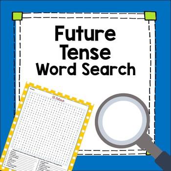 Spanish Future Tense Word Search Worksheet Fun By Manzana Para La
