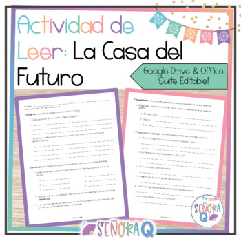 Future Tense and House Vocabulary - Reading Guide and Activities