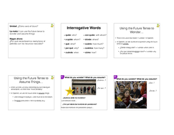 Future Tense for Wondering & Assuming - Picture Based Lesson