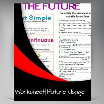 Future Usage Sheet