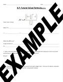 Future Value Formula Notes - Financial Algebra
