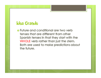 Spanish Future and Conditional Notes
