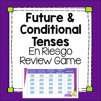 Future and Conditional Tense Jeopardy-inspired Editable Review Game