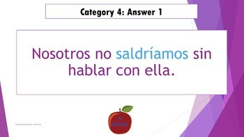 Spanish Future and Conditional Tense Editable Review Game
