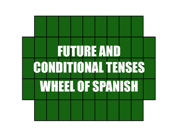 Spanish Future and Conditional Wheel of Spanish