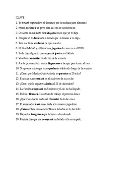 Realidades 3, Chapter 6, Future regular verbs. Quiz / Activities