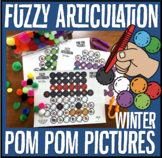 Fuzzy Articulation Winter: Pom Pom Pictures