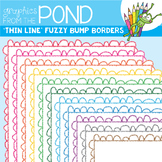 Borders - Fuzzy Bump THIN - Clipart Frames for Teaching Files