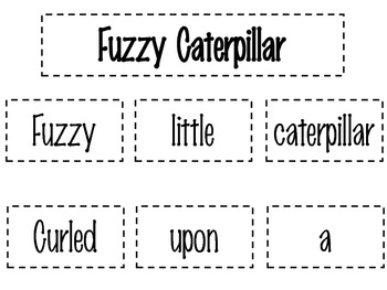 Fuzzy Caterpillar Poetry Pack