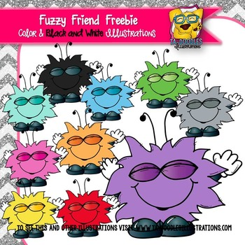Fuzzy Critter Freebie clipart