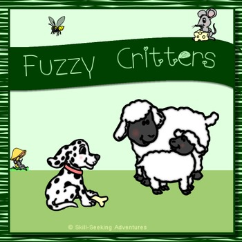 Fuzzy Critters Clip Art - Animals with Furry Texture